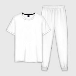 Пижама хлопковая мужская Символ Марио цвета белый — фото 1