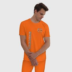 Пижама хлопковая мужская Mazda Style цвета оранжевый — фото 2