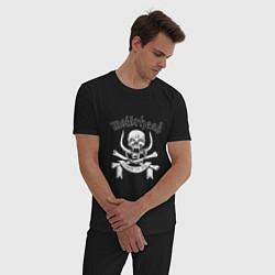 Пижама хлопковая мужская Motrhead цвета черный — фото 2