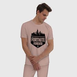 Пижама хлопковая мужская Fortnite Forever цвета пыльно-розовый — фото 2