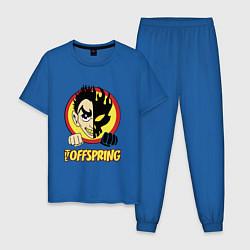 Пижама хлопковая мужская The Offspring Boy цвета синий — фото 1