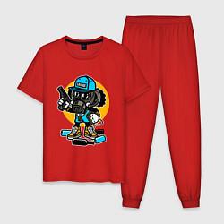 Пижама хлопковая мужская Street Savage цвета красный — фото 1