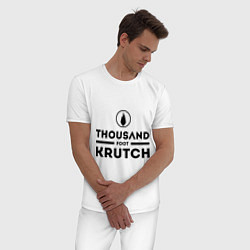 Пижама хлопковая мужская Thousand Foot Krutch цвета белый — фото 2