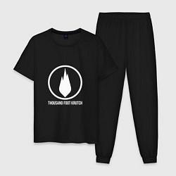 Пижама хлопковая мужская TFK: White Fire цвета черный — фото 1