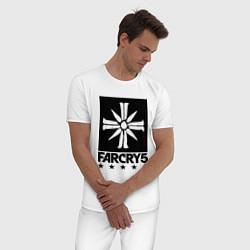 Пижама хлопковая мужская Eden's Gate: Far Cry 5 цвета белый — фото 2