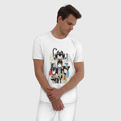 Пижама хлопковая мужская Bendy Heroes цвета белый — фото 2