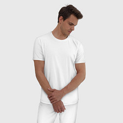 Пижама хлопковая мужская Motrhead: Black Captain цвета белый — фото 2
