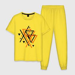Пижама хлопковая мужская Paul van Dyk: Chaos цвета желтый — фото 1