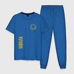 Пижама хлопковая мужская Nirvana Style цвета синий — фото 1
