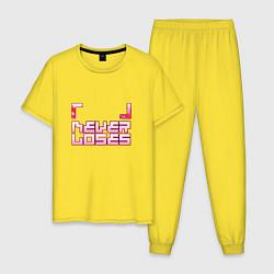 Пижама хлопковая мужская No Game No Life цвета желтый — фото 1