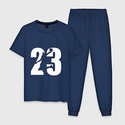 Пижама хлопковая мужская LeBron 23 цвета тёмно-синий — фото 1