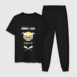 Пижама хлопковая мужская R6S Dokkaebi цвета черный — фото 1