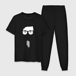 Пижама хлопковая мужская Skrillex Fashion цвета черный — фото 1