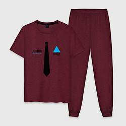 Пижама хлопковая мужская RK800: Made in Detroit цвета меланж-бордовый — фото 1