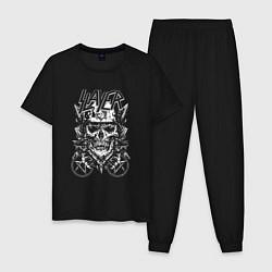 Пижама хлопковая мужская Slayer Demon цвета черный — фото 1
