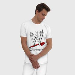 Пижама хлопковая мужская WWE universe цвета белый — фото 2