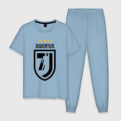 Пижама хлопковая мужская Juventus 7J цвета мягкое небо — фото 1