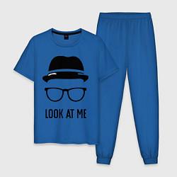 Пижама хлопковая мужская Look at me цвета синий — фото 1
