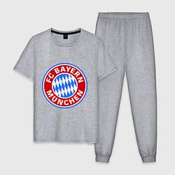 Пижама хлопковая мужская Bayern Munchen FC цвета меланж — фото 1