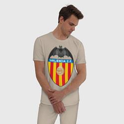 Пижама хлопковая мужская Valencia CF цвета миндальный — фото 2
