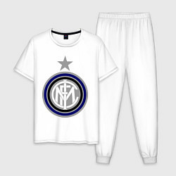Пижама хлопковая мужская Inter FC цвета белый — фото 1