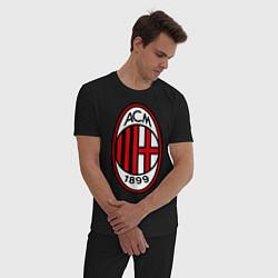 Пижама хлопковая мужская Milan ACM цвета черный — фото 2