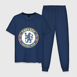 Пижама хлопковая мужская Chelsea FC цвета тёмно-синий — фото 1