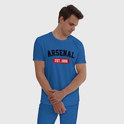 Пижама хлопковая мужская FC Arsenal Est. 1886 цвета синий — фото 2