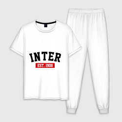 Пижама хлопковая мужская FC Inter Est. 1908 цвета белый — фото 1