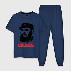Пижама хлопковая мужская Fidel Castro цвета тёмно-синий — фото 1