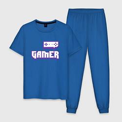 Пижама хлопковая мужская Twitch Gamer цвета синий — фото 1