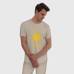 Пижама хлопковая мужская Praise The Sun цвета миндальный — фото 2