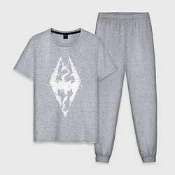 Пижама хлопковая мужская TES Dragon цвета меланж — фото 1