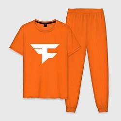 Пижама хлопковая мужская FAZE Symbol цвета оранжевый — фото 1