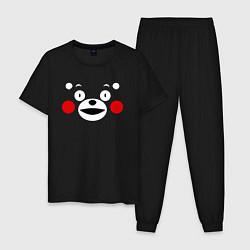 Пижама хлопковая мужская Kumamon Face цвета черный — фото 1