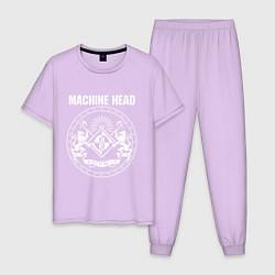 Пижама хлопковая мужская Machine Head MCMXCII цвета лаванда — фото 1