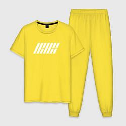 Пижама хлопковая мужская IKON цвета желтый — фото 1