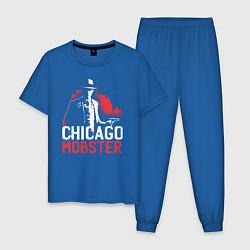 Пижама хлопковая мужская Chicago Mobster цвета синий — фото 1