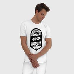 Пижама хлопковая мужская Elon Musk: Since 1971 цвета белый — фото 2