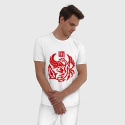 Пижама хлопковая мужская 30 Seconds To Mars цвета белый — фото 2
