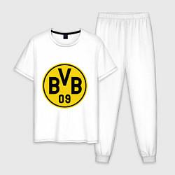 Пижама хлопковая мужская BVB 09 цвета белый — фото 1