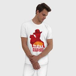 Пижама хлопковая мужская Red Dead Redemption 2 цвета белый — фото 2