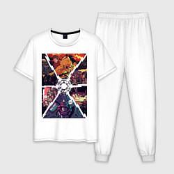 Пижама хлопковая мужская Back to the future цвета белый — фото 1