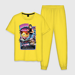 Пижама хлопковая мужская Miami Connection цвета желтый — фото 1
