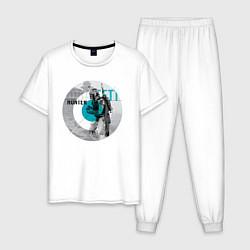 Пижама хлопковая мужская Bounty Hunter цвета белый — фото 1