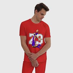 Пижама хлопковая мужская Леброн Джеймс цвета красный — фото 2