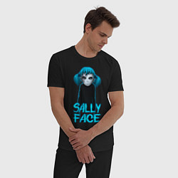 Пижама хлопковая мужская Sally Face цвета черный — фото 2