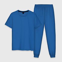 Пижама хлопковая мужская Good for Health цвета синий — фото 1