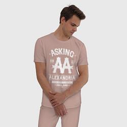 Пижама хлопковая мужская Asking Alexandria: England цвета пыльно-розовый — фото 2