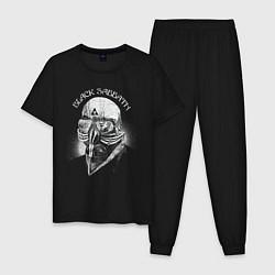Пижама хлопковая мужская Black Sabbath: The Ultimate Collection цвета черный — фото 1